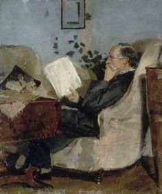 Christian Munch i sofahjørnet 1881 ~ Christian Munch on the Couch, 1881 ~ Edvard Munch ~ (1863-1944)