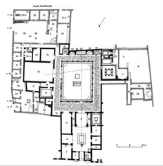 Plan of the House of Pansa  Pompeii   notice the axial plan  This    House of Menander plan  Pompeii   nd c  BC   Hellenized domus