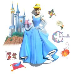 cinderella disney character | ... to print : Famous characters - Walt Disney - Cinderella number 39635