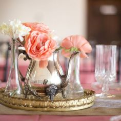 An adorable, tea party themed wedding shower with lots of decorating ideas! by Kelly Anne Photography