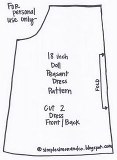 doll dress pattern-- tutorial instructions are in a scribd doc (and archived so not free) but pattern is still printable