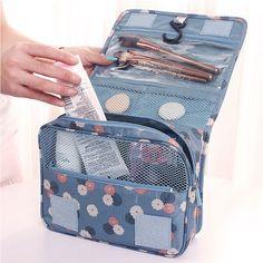 Pendurado grande saco de cosmética Necessaire de viagem senhoras higiene pessoal bolsa Zipper organizador de bolsa compõem sacos bolsas de lona de maquiagem em Bolsas para Remédios & Capas de Bolsas e Malas no AliExpress.com | Alibaba Group