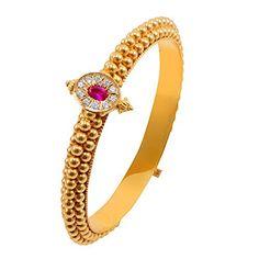 Plain Gold Bangles, Ruby Bangles, Gold Bangles Design, Jewelry Design, Real Gold Jewelry, Gold Jewelry Simple, Indian Jewelry, Gold Jewellery, Antique Jewellery