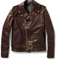 SchottPerfecto Vintage-Oiled Leather Motorcycle Jacket|MR PORTER