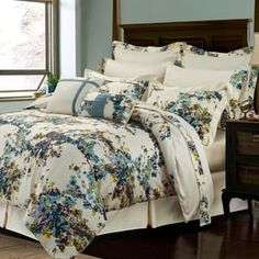 Casablanca Floral Print Cotton 12-piece Bed-in-a-Bag with Deep Pocket Sheet Set | Overstock.com Shopping - The Best Deals on Bed-in-a-Bag