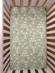 Fitted Cot Sheet / Fitted Crib Sheet in Mint by LittleDreamerAU