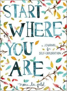 I really love the Start Where You Are: A Journal for Self-Exploration, because it assists the writer by giving us prompts and quotes for inspiration. It's not just a journal full of blank pages. It's full of little nudges to get you writing with purpose! Journaling, Planners, Interactive Journals, Interactive Art, Self Exploration, Start Where You Are, Simple Reminders, Simple Things, 5 Things