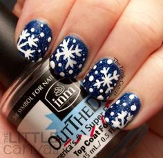 Let It Snow! Snowflake Manicure - Take 2
