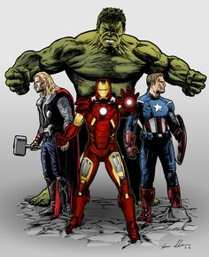 #Avengers #Fan #Art. (Avengers Assemble! color) By: Darrenclose. ÅWESOMENESS!!!™ ÅÅÅ+