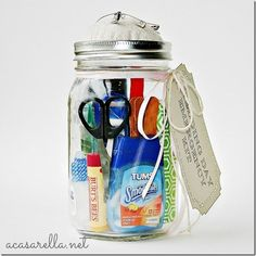 Wedding Day Emergency Kit - Mason Jar Crafts Love