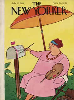 Rea Irvin : Cover art for The New Yorker Cover 753 - 22 July 1939