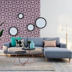 Yes please! Contemporary crush with our on trend Brody 2.5 seater sofa + chaise, styled with Gibbs side tables in grey/copper. Love this look? #ozdesignfurniture #interiors #home #living #contemporary #homedecor #design #style #styling #decor #stellarmagazine #reallivingmag #homeinspo #tagforlikes #interiordesign #furniture