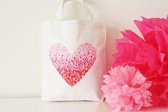 DIY Painted Heart Bag