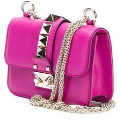 Valentino Garavani 'Glam Lock' shoulder bag (7,430 MYR) ❤ liked on Polyvore