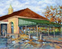 """""""Autumn Coffee"""" by Dianne Parks - a depiction of Cafe du Monde in New Orleans"""