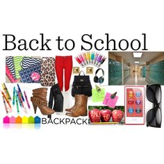 """Back 2 School!"" by nessa-seme on Polyvore"