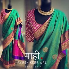 Benarsi Saree by Ayush Kejriwal For purchases email me at…