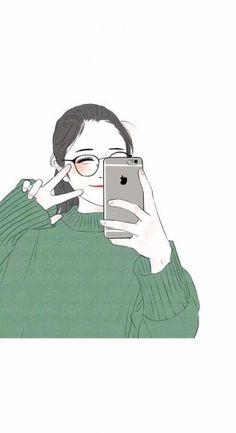 Gratitude is perhaps the most reliable path to a happy life🌱🌹 Cute Girl Wallpaper, Kawaii Wallpaper, M Anime, Anime Art Girl, Fanart Kpop, Girly Drawings, Cartoon Art Styles, Cute Cartoon Wallpapers, Girl Cartoon