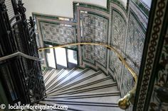 Inside Cibeles Palace (Madrid), Palace of Communication. Decorated stair case. Talk about no expense spared *LOL*