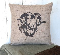 This beautiful oatmeal tweed cushion is lovingly hand-printed with a ram design in our family run studio. With its muted colours and quirky design this cushion Personalised Cushions, Printed Cushions, Country Style Homes, Muted Colors, Cushion Covers, Creative Business, Sheep, Personalized Gifts, Unique Gifts
