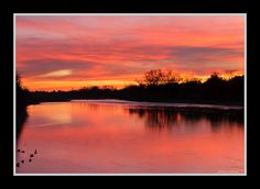 'Sunset on American River at Sunrise' - photo by Cliff Hall, via Flickr;  photo taken just west of Sunrise BLVD. in Gold River, CA