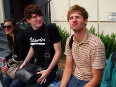 Because this is my favorite picture of Breanne, Adam, and Daniel. You just have to love that Breanne is just having a good time back there completely oblivious, Adam is really confused with Dan's awesomeness and Dan is just being Dan.