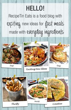 RecipeTin-Eats is a food blog with exciting new ideas for fast meals made with everyday ingredients