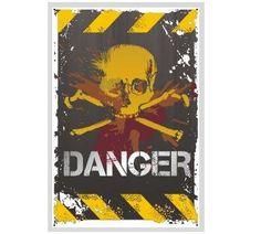 Schild Danger  #schild #aluschild #warnschild #danger #gefahrenschild #totenkopf / mehr Infos auf: www.Guntia-Militaria-Shop.de