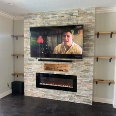 Most current Free of Charge Electric Fireplace contemporary Thoughts – Rebel Without Applause Fireplace Feature Wall, Tv Over Fireplace, Living Room Decor Fireplace, Wall Mounted Fireplace, Basement Fireplace, Build A Fireplace, Wall Mount Electric Fireplace, Fireplace Built Ins, Home Fireplace