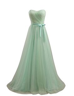 Snowskite Women's Charming Sweetheart Long Tulle Party Prom Dresses --  Trust me, this is great!