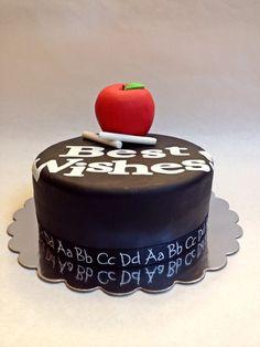 Teacher Retirement Cake   Retirement   Pinterest