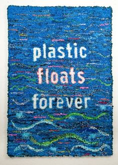 Constance Old word rugs mixed plastic on linen