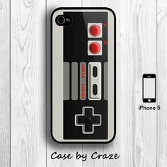 iPhone 5 / 5S Nintendo Game Controller Hard Case iPhone 5 Retro Back Cover. $9.99, via Etsy.