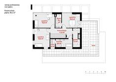 DOM.PL™ - Projekt domu CPT HomeKONCEPT-34 CE - DOM CP1-40 - gotowy koszt budowy Malm, Pergola, Floor Plans, Outdoor Pergola, Floor Plan Drawing, House Floor Plans