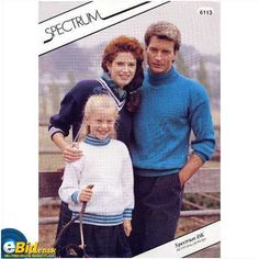 Childrens & adults Sweater knitting pattern for DK yarn Spectrum patterns 6113 Listing in the Baby & Children,Patterns-Contemporary,Knitting & Crochet,Needlework,Crafts, Handmade & Sewing Category on eBid United Kingdom | 156301670