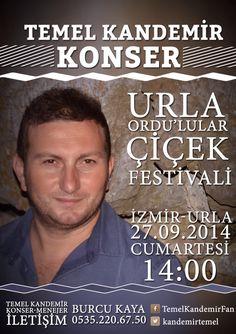 Temel Kandemir İzmir-Urla konser afişi.