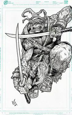 Teenage Mutant Ninja Turtles - Leonardo by Allen Geneta *