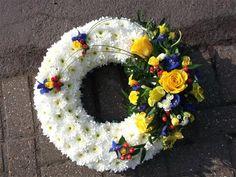 funeral flowers - Based Wreath