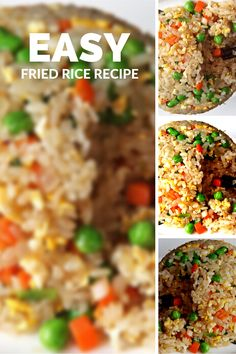 The best & healthy recipes of Easy Delicious Fried Rice Vegetarian Rice Recipes, Healthy Asian Recipes, Chicken Rice Recipes, Asian Dinner Recipes, Brown Rice Recipes, Easy Rice Recipes, Fried Rice Recipe Indian, Best Fried Rice Recipe, Chinese Dishes Recipes