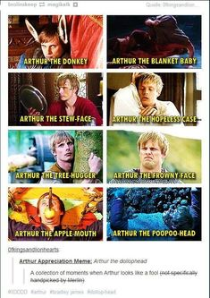 A collection of moments when Arthur looks like a fool.