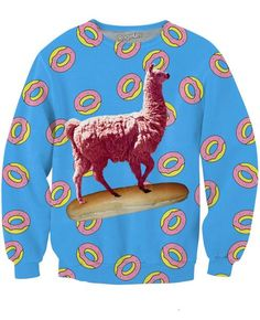 Breadstick Llamacorn Crewneck Sweatshirt