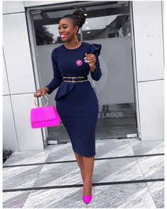 African Style Dresses For Women 2019 Africa Clothing Summer Elegant Ankara Dress. sidekick sidekick African Style Dresses For Women 2019 Africa Clothing Summer Elegant Ankara Dresses Super Elastic Fashion African Dress For Lady Classy Work Outfits, Classy Dress, Chic Outfits, Dress Outfits, Fashion Outfits, Latest African Fashion Dresses, African Print Fashion, African Dresses For Women, Africa Fashion