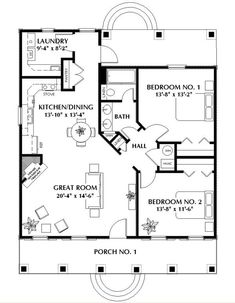 Nice small 2-bedroom cabin plan. Add a sleeping loft with bunk beds for the kids. Add an extra powder room. And 2 car garage. Fire places, larger grilling porch and lots of exterior outlets. Add RV parking and Power so friends can come visit.
