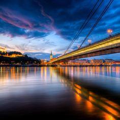 beautiful night colors and bridge