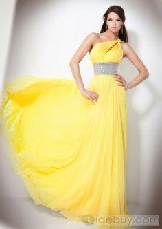 Lindo Vestido Color Amarillo, Perfecto para Promoci�n o para A�o Nuevo!