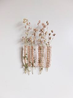 Forever Flora, Flower Weave. / Hand Woven Wall Hanging Art / Natural Floral Decor / Delicate Dutch Wild Flora by FynBoschDesign on Etsy https://www.etsy.com/listing/480817505/forever-flora-flower-weave-hand-woven