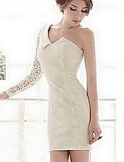 Women's One Shoulder Lace Sleeve Bodycon Dres... – USD $ 27.29