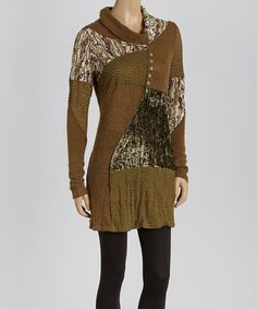 Another great find on #zulily! Olive Patchwork Tunic by Christine Phillipë #zulilyfinds