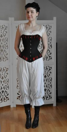 Before the Automobile: Late bustle underwear 2011 (the corset completed earlier)