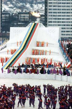 1984 Winter Olympics | 1984 winter olympics - sarajevo yugoslavia - opening ... | Olympics